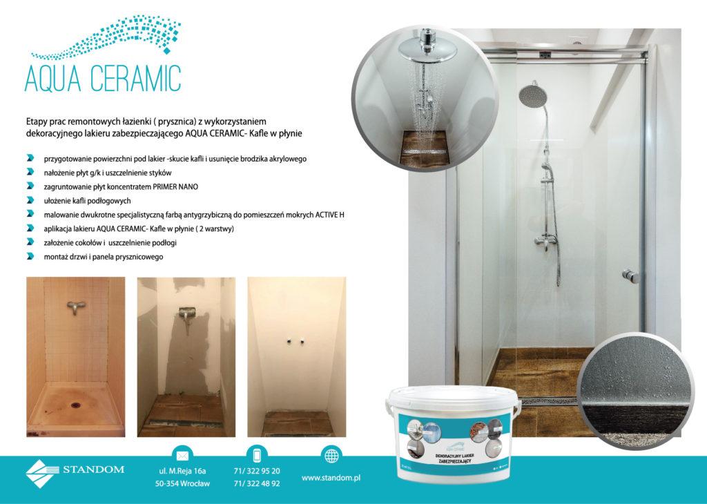 Dekoracyjny Bezbarwny Lakier Aqua Ceramic Kafle W Płynie Standompl