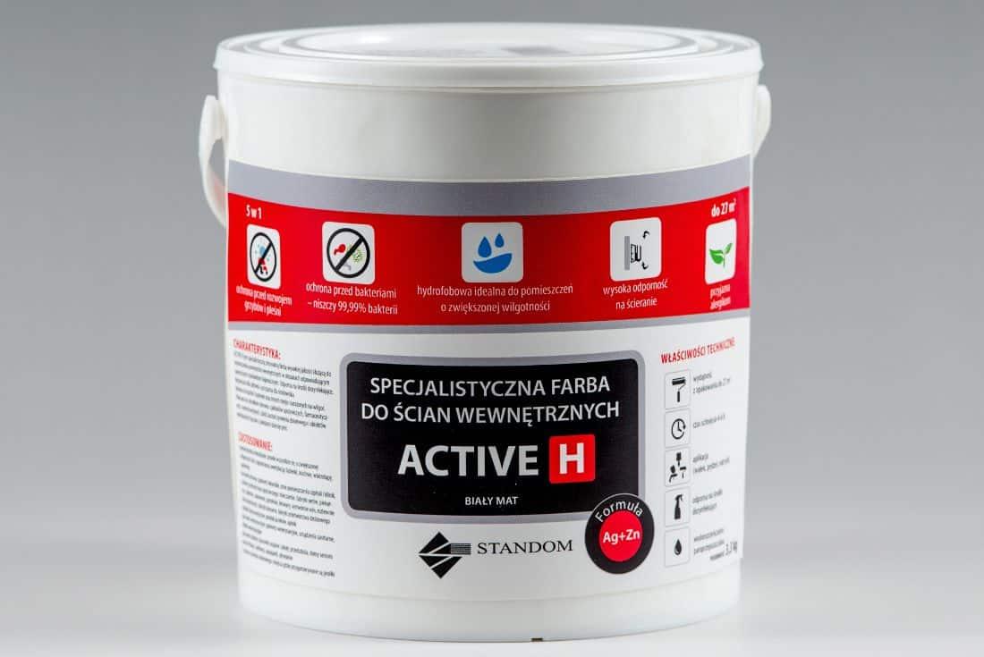 Higieniczna farba antygrzybiczna ACTIVE H - 3,3kg