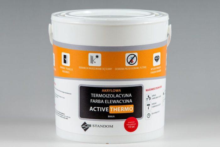 Termoizolacyjna antygrzybiczna farba elewacyjna ACTIVE THERMO - 5kg