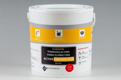 Termoizolacyjna antygrzybiczna farba elewacyjna ACTIVE THERMO SUN - 5kg
